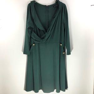 Eloquii • Green Wrap Dress